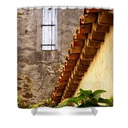 Textures In A Provence Village Shower Curtain