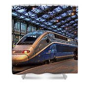 Tgv At The Train Station  Shower Curtain