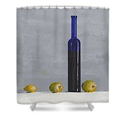 The Blue Bottle By David I. Jackson Shower Curtain