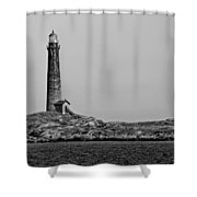 Thacher Island's North Tower Lighthouse Shower Curtain