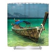 Thai Boat  Shower Curtain