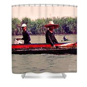 Thai Fisherman Shower Curtain