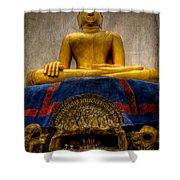Thai Golden Buddha Shower Curtain