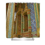 Thai-khmer Pagoda At Grand Palace Of Thailand In Bangkok Shower Curtain