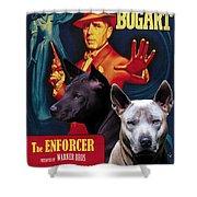 Thai Ridgeback Art Canvas Print - The Enforcer Movie Poster Shower Curtain