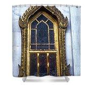 Thai Temple Window Shower Curtain
