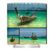 Thailand Longboats Shower Curtain