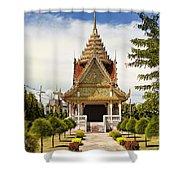 Thailand Temple Shower Curtain