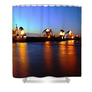 London Thames River Shower Curtain