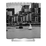Thames Sailing Shower Curtain