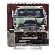 Thames Trader Vintage Truck Shower Curtain
