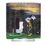 Thank You Again Hand Embroidery Shower Curtain