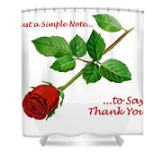 Thank You Card   Shower Curtain