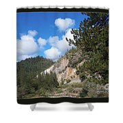 Clouds Of Hearts Shower Curtain