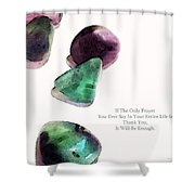Thank You - Gratitude Rocks By Sharon Cummings Shower Curtain
