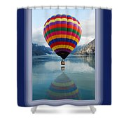 Thank You Hot Air Balloon In Alaska Shower Curtain