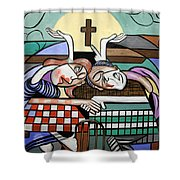 Thank You Jesus When Two Or More Are Gathered Shower Curtain by Anthony Falbo