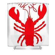 Thank You Lobster With Feelers Shower Curtain