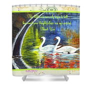 Thank You Sentiments-swans Shower Curtain