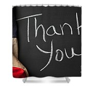 Thank You Sign On Chalkboard Shower Curtain