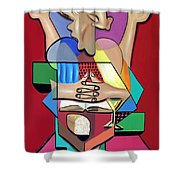 Thanks And Praise Shower Curtain by Anthony Falbo