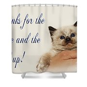Thanks For The Rescue And The Hand Up Shower Curtain by Andee Design