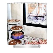 Thanksgiving Pies Shower Curtain