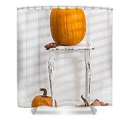Thanksgiving Pumpkin Display Shower Curtain