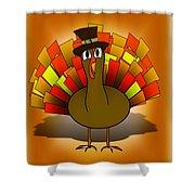 Thanksgiving Turkey Pilgrim Shower Curtain
