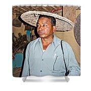 Tharu Chitwan National Park Naturalist In Tharu Village In Nepal  Shower Curtain