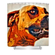 That Doggone Face Shower Curtain