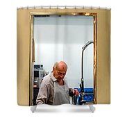 That Man In The Window Again Shower Curtain