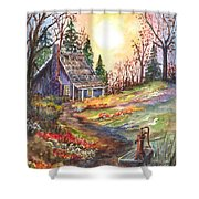 That Old Cabin In The Woods Shower Curtain