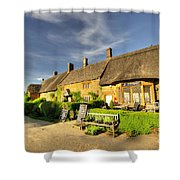 Thatched Cottages At Great Tew  Shower Curtain