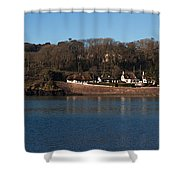 Thatched Cottages In A Town, Dunmore Shower Curtain