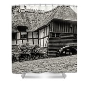 Thatched Watermill 3  Shower Curtain