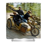 That's The Way To Ride An Army Bmw R75  Shower Curtain