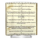 The 10 Commandments  For Pets  Antique Marble Shower Curtain