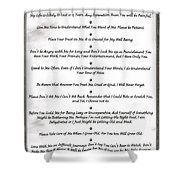 The 10 Commandments For Pets On Black Marble Shower Curtain