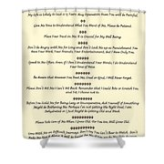 The 10 Commandments For Pets On Old Parchment Shower Curtain