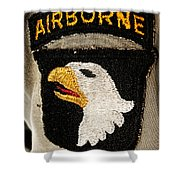 The 101st Airborne Division Emblem Shower Curtain