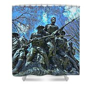 The 107th Infantry Memorial Sculpture Shower Curtain