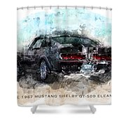 The 1967 Shelby Gt-500 Eleanor Shower Curtain