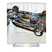The 1978 F1 Lotus Shower Curtain