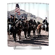 The 1st California U S Cavelry Shower Curtain