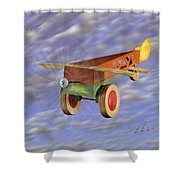 The 356th Toy Plane Squadron 2 Shower Curtain