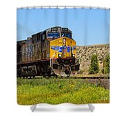 The 5789 Union Pacific Train Shower Curtain