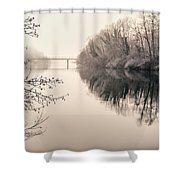 The Absence Shower Curtain