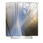 The Abstract Curves Of The Disney Concert Hall Shower Curtain