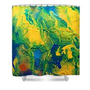 The Abstract Earth Shower Curtain